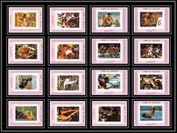 0253/ Umm Al Qiwain Deluxe Blocs ** MNH Mi 938/953 Munich 1972 Jeux Olympiques Olympic Games Non Dentelé Imperf Pink - Umm Al-Qiwain