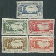 Dahomey P.A.  N° 1 / 5  X  La Série Des 5 Valeurs Trace De Charnière Sinon  TB - Ungebraucht