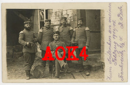 Reserve Infanterie Regiment 103 Musikkorps Hornist Tambour Feldpost 1915 Champagne Auberive Saint Souplet Reims - Guerre 1914-18