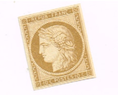"""Cérès. (x) No Gum.Sans Gomme.Signé """"Brun"""".4 Marges. - 1849-1850 Ceres"""
