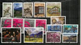 ANDORRA.FR. Año Completo 2005. 16 Sellos Cancelados, 1ª Calidad, (búho De Tengmalm, Moto De Policía, Gastronomía, Etc.) - Used Stamps