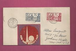 Lettre De 1940 Pour Les EUAN. YT N° 173 Et 174 - Exposition Internationale De New York - Storia Postale