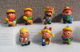 Kinder 1999 : Série Complète Les Bonhommes Boule + 1 Variante (7 Figurines Et 4 BPZ) - Lotti
