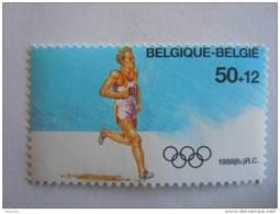 België Belgique Belgium 1988 J.O. Seoul Marthonlopers Marathon Yv 2287 Timbre Du BF 64 MNH ** - Unused Stamps