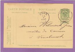 ENTIER POSTAL DE TONGEREN/TONGRES POUR VINALMONT ,POSTE A MOHA. - Cartes Postales [1909-34]