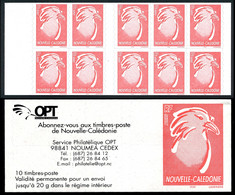 NOUV.-CALEDONIE 2003 - Yv. Carnet C894 **   Faciale= 6,29 EUR - 10 Cagou Val. Perm. Autoadhésifs  ..Réf.NCE25837 - Libretti