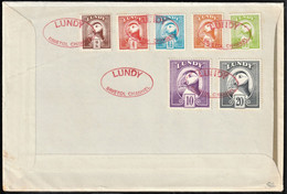 1974 Great Britain (Lundy Local Private Post) Atlantic Puffin Bust Definitives FDC - Palmípedos Marinos