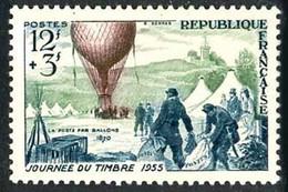 France Frankreich Francia 1955 Journée Du Timbre Stampday Ballon Balloon Globo Nadar Armand-Barbès 1870 - Altri (Aria)