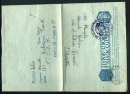 § BIGL.POSTALE FF.AA. PM 39  6° CORPO D'ARMTA 18° AUTO REPARTO PESANTE   X RECANATI MACERATA § - War 1939-45