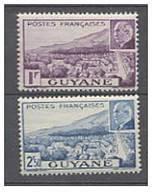 GUYANE N° 172/73 XX Paire Mal Pétain, Sans Charnière, TB - Ungebraucht