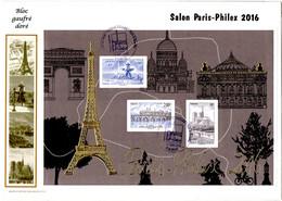 FDC PJ Bloc Paris Philex 2016 Paris - 2010-....