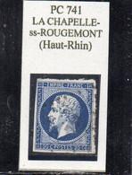 Haut-Rhin - N° 14A Obl PC 741 La Chapelle-sous-Rougemont - 1853-1860 Napoléon III.