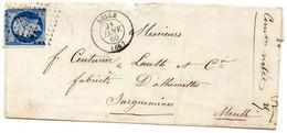 Haut-Rhin - LSC Affr N° 14A (défx) Obl PC 1085 - Càd Type 15 Delle - 1849-1876: Klassik