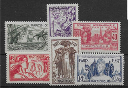 Martinique N°161/166 - Neuf ** Sans Charnière - TB - Nuovi