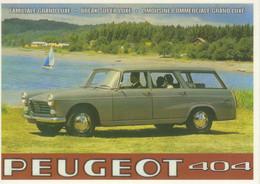 Peugeot 404 Familiale Break   -  Publicite D'epoque   -   Centenaire Editions Carte Postale - Trucks, Vans &  Lorries