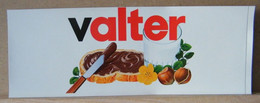 ADESIVI NUTELLA NOMI, VALTER - Nutella