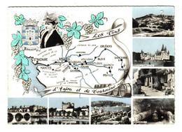Carte Des Vins D'Anjou Et De Touraine N°1C Nantes Reuilly Vouvray Bourgueil Pouilly Jasnières - Vines