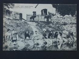 Ref6141 CPA Animée Saint Yrieix (Limousin) - Lavoir Du Pont Les Bordas - Métiers Lavandières N°222 1910 - Ambachten