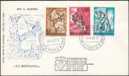 San Marino - FDC 'LA MONTAGNA' Republica Di San Marino Poste 14.6.1962. - FDC