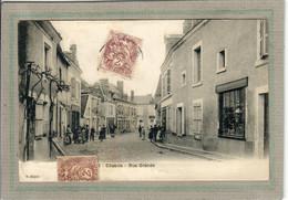 CPA - (36) CHABRIS - Aspect De La Rue Grande Au Début Du Siècle - Otros Municipios
