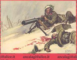 CART.MIL.012 - 1° CENTENARIO DEI BERSAGLIERI 1836-1936 (illustratore V.Pisani) - Guerra 1939-45