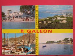 Visuel Très Peu Courant - Espagne - Mallorca - Puerto De Pollensa - Hostal Galeon - R/verso - Mallorca