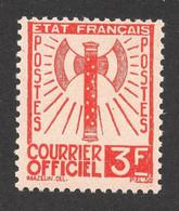 N°10 Neuf **, 3Frs Orange Francisque, Signé Scheller, Cote 110 Eu. - Ungebraucht