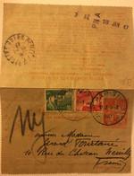 Pneumatique 6 Frs Complété De 2 Marianne De Gandon De 3 Et 5 Frs De 1947 Entier Postal Telegraphe - Pneumatische Post