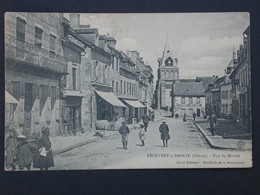 Ref6152 CPA Animée De Benevent L'Abbaye (Limousin) - Rue Du Marché Hotel Villard - Cliché Pellissier 1909 - Benevent L'Abbaye