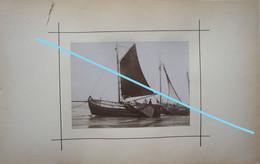 Photo Pêche Visser Pêcheur Boot Vers 1900 Bateau Ship Kust Visserij Vis Oostende ? Zeebrugge ? - Schiffe