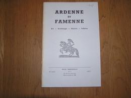 ARDENNE ET FAMENNE N° 4 Année 1967 Régionalisme Archéologie Terre De Durbuy Collégiale Waha Orchimont Bornes Ban - België