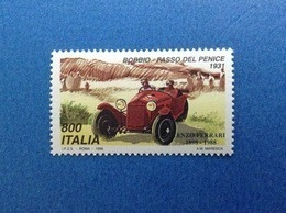 1998 ITALIA FRANCOBOLLO NUOVO ITALY STAMP NEW MNH** AUTO FERRARI BOBBIO PASSO DEL PENICE 1931 - 1991-00: Mint/hinged