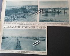 ANTWERPEN ..1937..TUSSEN  ST. ANNEKE EN BURCHT WORDEN DE DIJKEN VERHOOGD  / LINKEROEVER - Unclassified