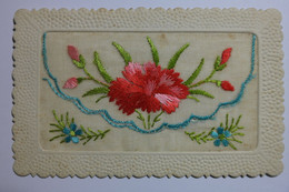 Cpa Broderie Fleur - EB12 - Embroidered