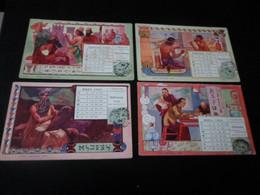 LOT DE 12 CPA / CALENDRIER ANNEE 1905 - 5 - 99 Postcards