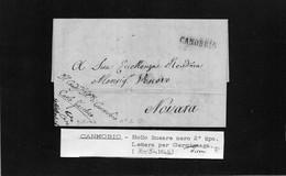 CG8 - Lettera Da Cannobio Per Novara 7/5/1844 - Annullo Di Cannobio - ...-1850 Préphilatélie