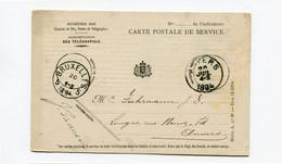 1894 Carte Postale De Service - Ministère Chemins De Fer , Postes Et Télégraphes Van Bruxelles 5 Naar Anvers - Postcards [1871-09]