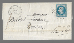 ROMENAY  : 1869 : GC 3192 +  CàD  Type 22 :  ( Saône Et Loire ) - 1849-1876: Klassieke Periode