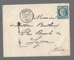 ROMENAY  : 1875 : GC 3192 +  CàD  Type 17 :  ( Saône Et Loire ) - 1849-1876: Periodo Classico