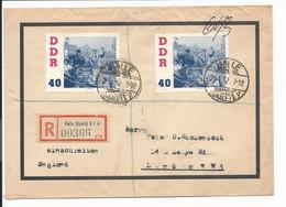 DDR 868 MeF -  80 Pf Kosmonauten Auf Einschreiben Von Hhalle Nach London - Briefe U. Dokumente
