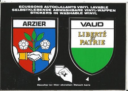 CPSM -- Blason - Autocollant- Suisse - Schweiz - Vaud - Arzier - VD Vaud