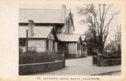 DROITWICH ST ANDREWS BRINE BATHS OLD B/W POSTCARD WORCESTERSHIRE - Worcestershire