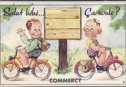 55 COMMERCY Carte à Système Avec Ses Dix Vues - Commercy