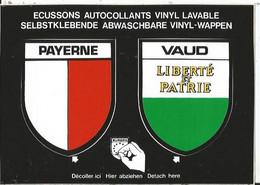 CPSM -- Blason - Autocollant- Suisse - Schweiz - Vaud - Payerne - Payern - VD Vaud