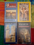 Lot De 4 K7 VHS Sur Le Thème De L'Egypte Des Pharaons Et Leurs Trésors - A Saisir !!! - Documentary