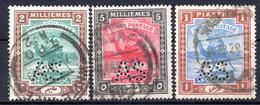 SOUDAN - (Condominium Anglo-égyptien) - 1912-22 - Service - N° 24 à 27 - (Lot 3 Valeurs Différentes) - Sudan (...-1951)