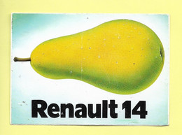 AUTOCOLLANT STICKER - RENAULT 14 - LA POIRE - VOITURE - AUTOMOBILE - Stickers