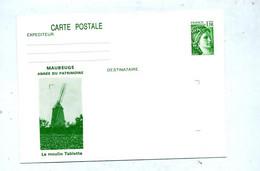 Carte Postale 1.10 Sabine Illustré Moulin Tablette - Overprinter Postcards (before 1995)