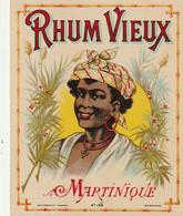 ***  ETIQUETTE RHUM ****  RHUM - Vieux De Martinique étiquette Parafinée - - Rhum