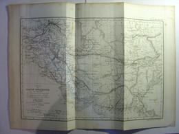 CARTE PARTIE DE L'ASIE ANCIENNE - GRAVURE De 1837 - 36cm X 27cm - ROLLIN - DESBUISSONS RAMBOZ - VIVIEN - ASIA MAP PRINT - Carte Geographique